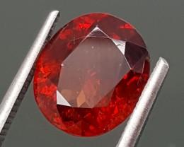 3.30Crt Hessonite Garnet Rare Color  Best Grade Gemstones JI 69