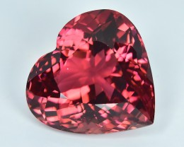 10.61 Cts Beautiful Heart Shape Attractive Color Natural Orange Pink Tourma