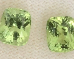 Luminous 3.05 ct Peridot Pair , Mogkok, Burma G03 H719