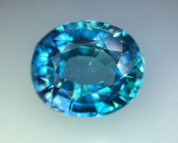 8.29 Cts Blue Zircon Awesome Color ~ Cambodia