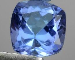 HUGE SPARKLE LIGHT VIOLET BLUE NATURAL 5MM TANZANITE CUSHION NR!!!