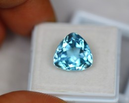 8.82ct Natural Blue Topaz Trillion Cut Lot V1701