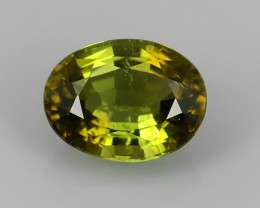 TOP 1.90 CTS WONDERFULL CHARMING NATURAL GREEN OVAL TOURMALINE