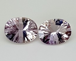 3.65Crt Fancy Ametrine Pair Best Grade Gemstones JI70