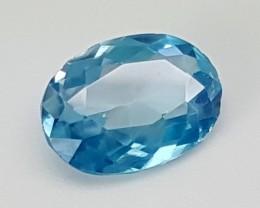2Crt Blue Zircon  Best Grade Gemstones JI70