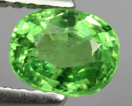 1.00 CTS-EXCELLENT NATURAL EARTH MINED RARE HUGE TOP GREEN TSAVORITE GARNET