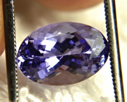 4.01 Carat Purple / Blue VVS1 African Tanzanite - Superb