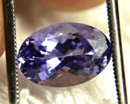 4.01 Carat Purple / Blue VVS1 African Tanzanite - Superb