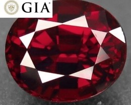 NO RESERVE - GIA Certified Unheated Red Spinel VVS+ (Mahenge) $6000