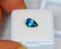 1.57ct Natural London Blue Topaz Pear Cut Lot GW1740