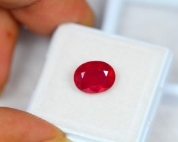3.63ct Natural Ruby Oval Cut Lot GW1742