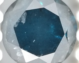 0.27 Cts Natural BLUE Diamond Round Loose G9