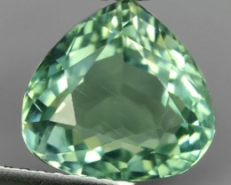 3.80 cts Sparkling Luster - PEAR Gem - Natural TOP Green Aquamarine