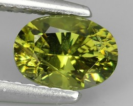 1.10 CTS OVAL VIVIDLY GREEN DEMANTOID GARNET FROM RUSSIA