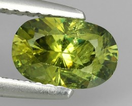 1.25 CTS OVAL VIVIDLY GREEN DEMANTOID GARNET FROM RUSSIA~