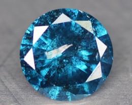 0.20 Cts Natural Titanium Blue Diamond Round Africa