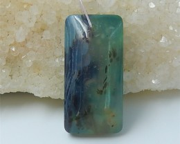 49ct Special Design Natural Blue Opal And Chrysocolla Intarsia Pendant (180