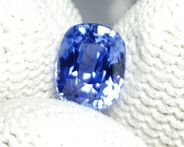 UNHEATED CERTIFIED 1.02 CTS NATURAL BEAUTIFUL VVS VIOLETISH BLUE SAPPHIRE C