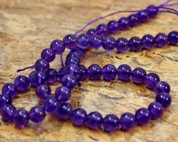 168 ct Unheated ~ Natural Purple color Amethyst Beads