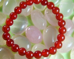 Natural Beautiful Red Carnelian Beats 8 mm Round
