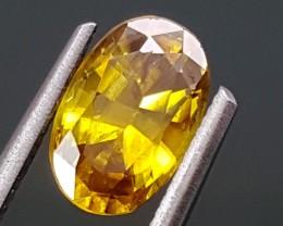 1.30Crt Yellow Sapphire Multi color  Best Grade Gemstones JI71