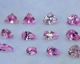 NO Reserve 57.30 cts Natural Pink Kunzite Gemstones Parcel