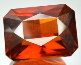 16.34 Cts Natural Cinnamon Orange Hessonite Garnet Octagon Cut Srilankan Ge