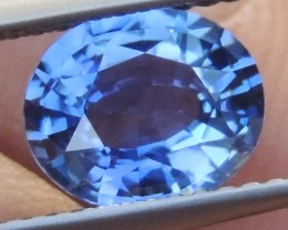 2.01cts,  Sapphire,  Pure Blue,  Heat Only,  Clean