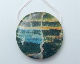 148ct On Sale Natural Ocean Jasper Pendant (18070607)