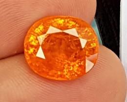 11.14cts Mandarin / Fanta Garnet,  Giant Bright Vivid Stone