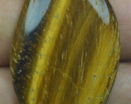 46.05 Ct  TIGERS EYE UNTREATED NATURAL BEAUTIFUL CABOCHON X28-142