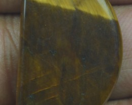 14.05 Ct  TIGERS EYE UNTREATED NATURAL BEAUTIFUL CABOCHON X28-147