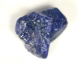 72.39Ct Natural Vivid Blue African Mined Blue Sapphire Rough