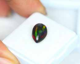 2.79Ct Natural Ethiopian Welo Solid Black Opal Lot V1727