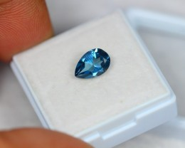 1.55Ct Natural London Blue Topaz Pear Cut Lot LZ775