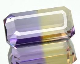 3.28 Cts Natural Bi Color Ametrine Octagon Cut Bolivian Gem