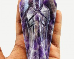 Genuine 1025.00 Cts Bi-Color Amethyst Reiki Healing Angel