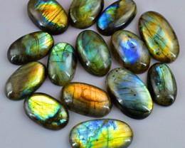 Genuine 525.50 Cts Amazing Flash Labradorite Oval Shape Gem Lot