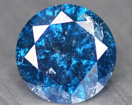 0.14 Ct Natural Fancy Blue Diamond Round Africa