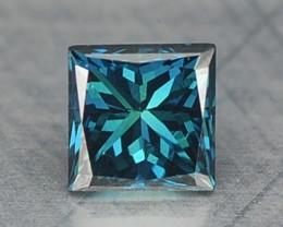 0.16 Cts Natural Blue Diamond Square Princess Africa