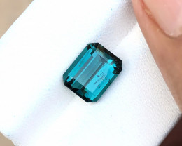 2.80 Ct Natural Blueish Transparent A+ Tourmaline Gemstone