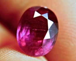 3.87 Carat Purplish Red Ruby - Beautiful Gem