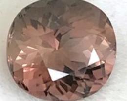 Beautiful Pinkish-Chocolatey 3.45ct Cushion Cut Tourmaline G29