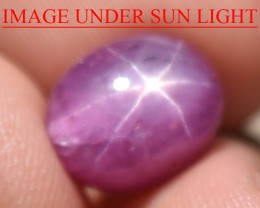 6.58 Ct Star Ruby CERTIFIED Beautiful Natural Unheated Untreated