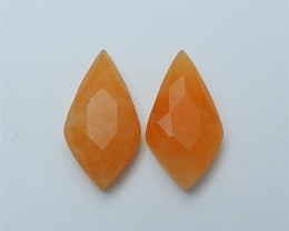 11ct Natural Red Aventurine Cabochon Pair(18070911)