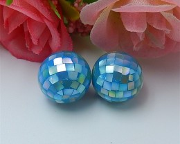 24.5ct New Arrival M.O.P Intarsia 12mm Round Beads (18070920)