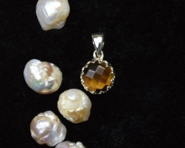 NATURAL UNTREATED TIGER EYE PENDANT 925 STERLING SILVER  JE270
