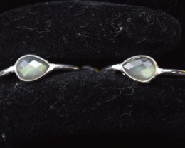 NATURAL UNTREATED LABRADORITE EARRINGS 925 STERLING SILVER JE271