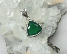 NATURAL UNTREATED ONYX PENDANT 925 STERLING SILVER JE276