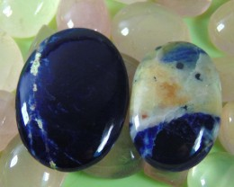 NATURAL BLUE FLASHY SODALITE GEMSTONE CABOCHON 89.30 cts
